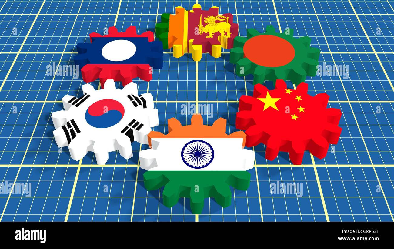 Asia pacific trade agreement members flags on gears stock photo asia pacific trade agreement members flags on gears platinumwayz