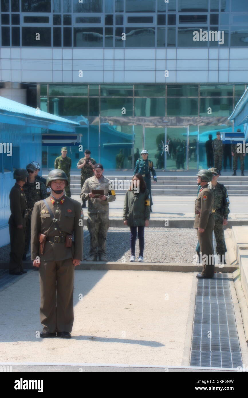 DMZ from the North Korean side - Stock Image