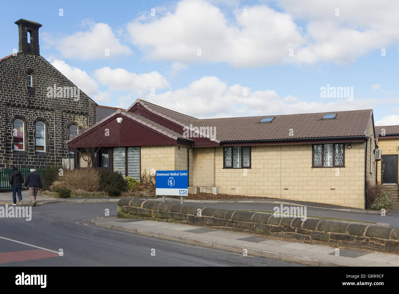 Greenmount Medical Centre, in the village of Greenmount, Lancashire. A multi-doctor NHS GP practice and healthcare - Stock Image
