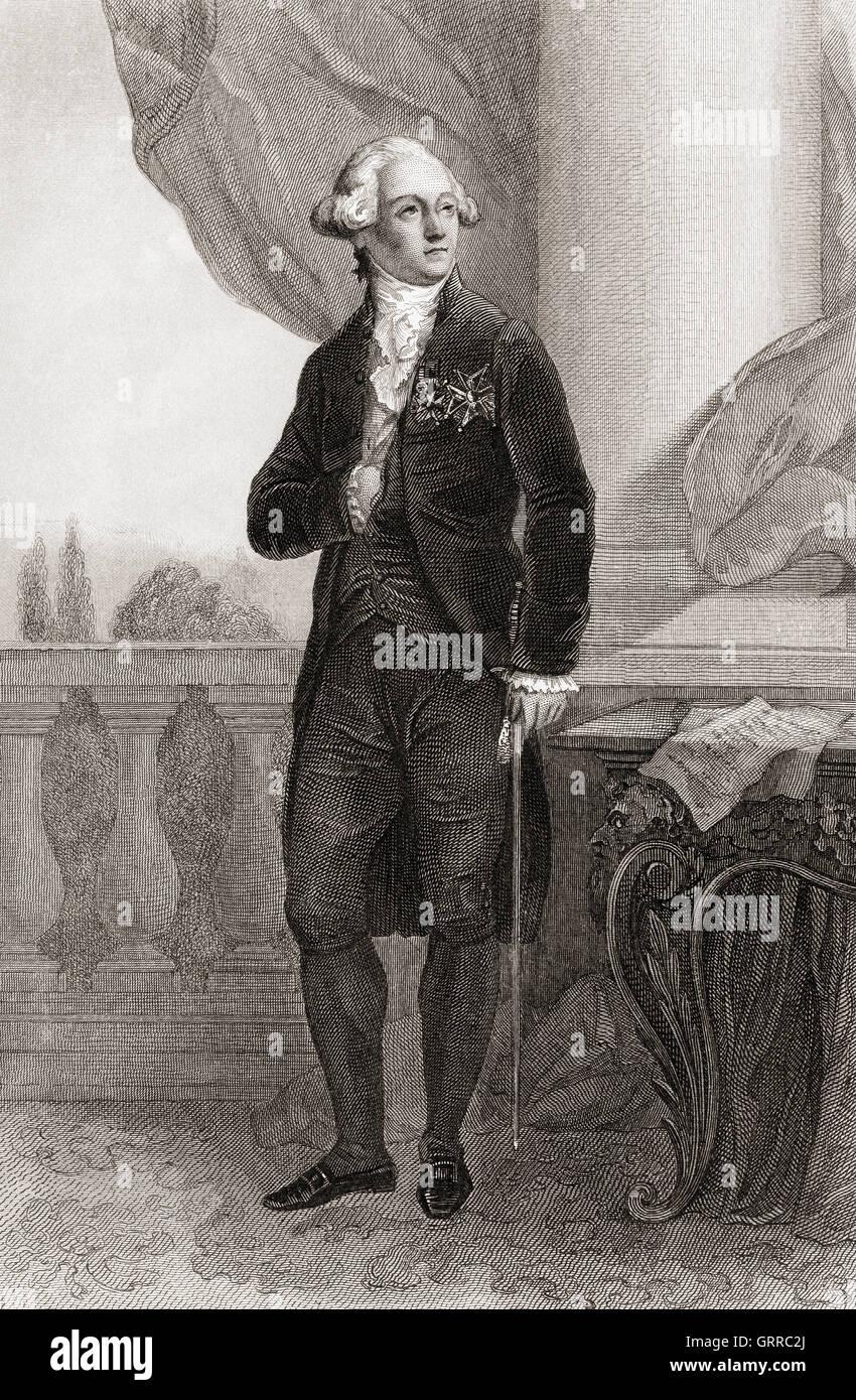 François Claude Amour, marquis de Bouillé, 1739 –1800.  French general. - Stock Image