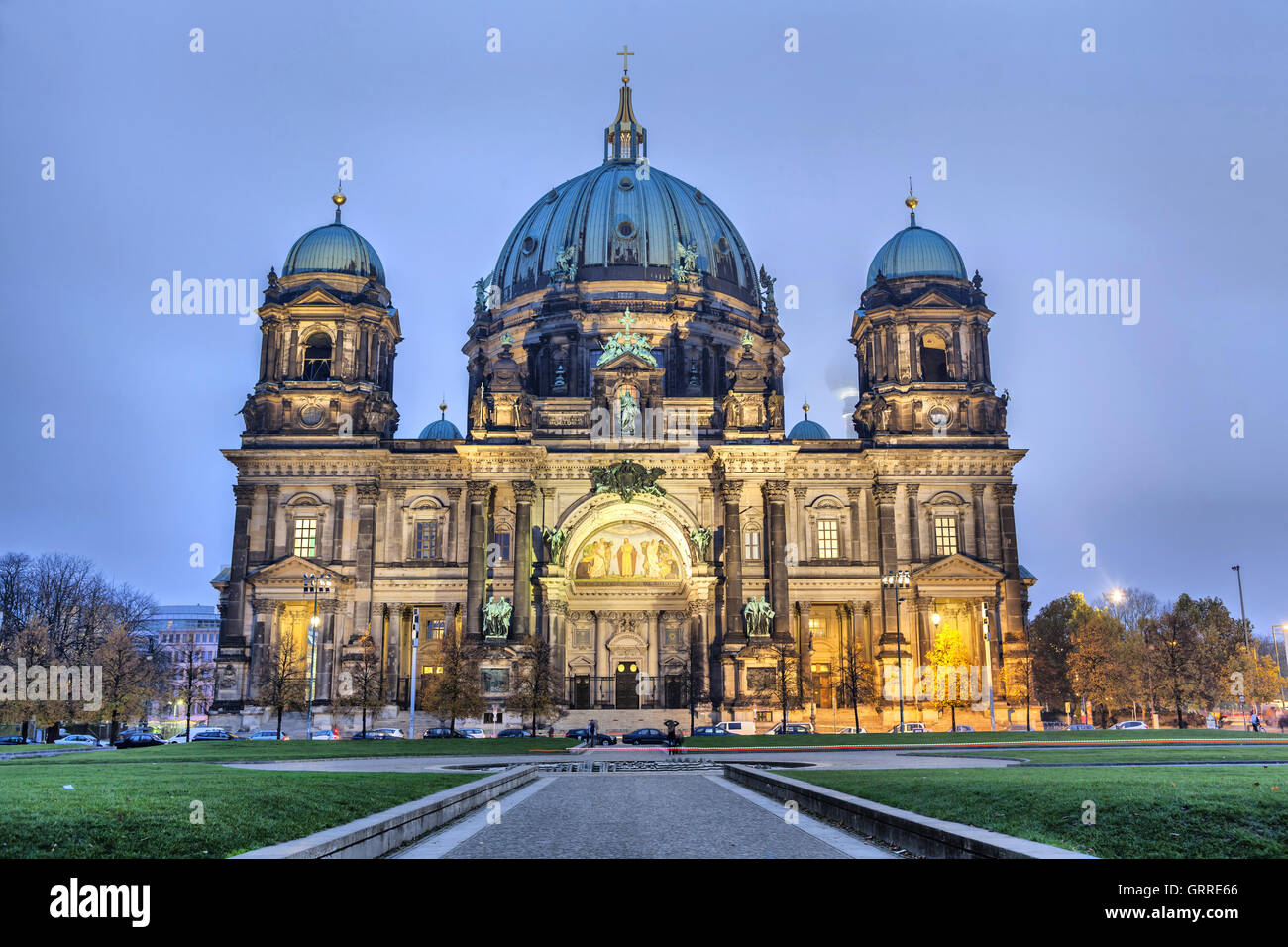 Berlin Cathedral (Berliner Dom) in evening light, Berlin, Germany - Stock Image