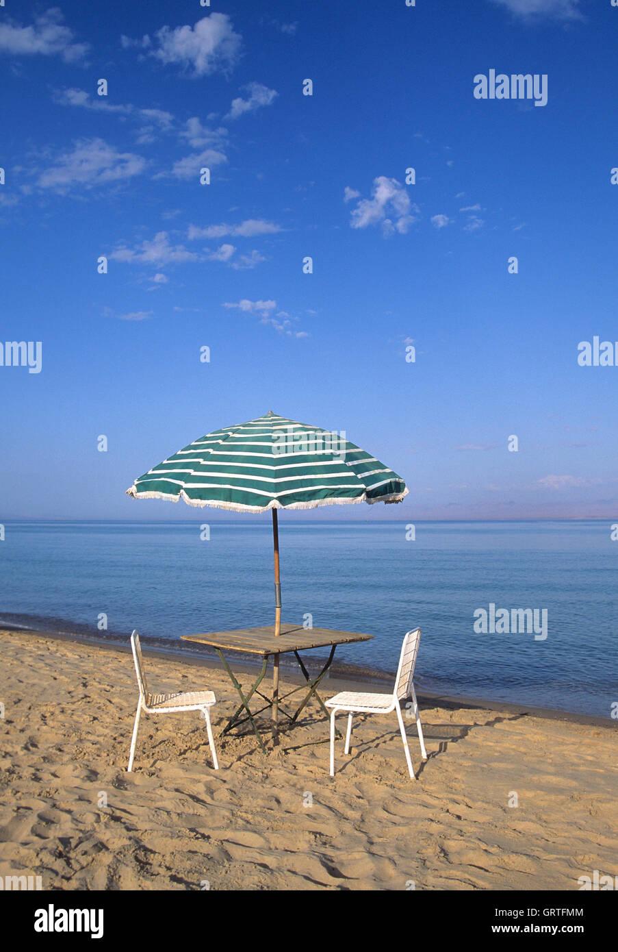 Beach, Nuweiba, Sinai, Egypt - Stock Image