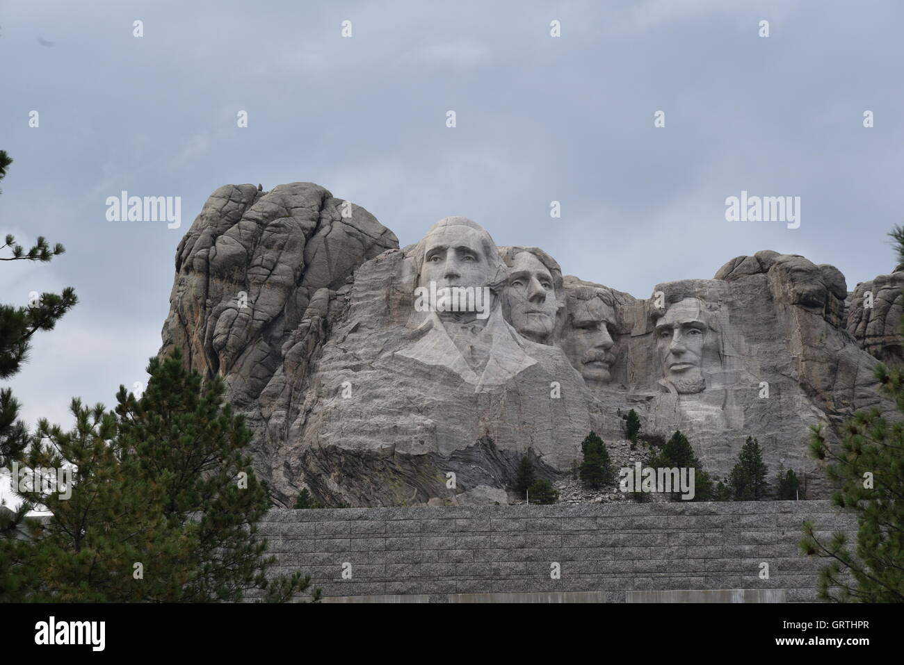 Mount Rushmore on a Granite Base Stock Photo