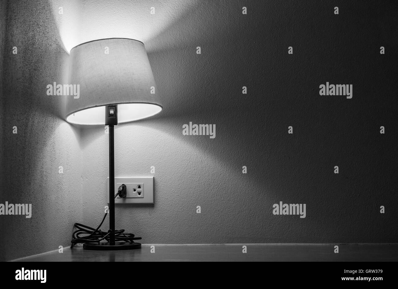 One lonely light l& in dark room - Stock Image & Torch Light Dark Stock Photos u0026 Torch Light Dark Stock Images - Alamy