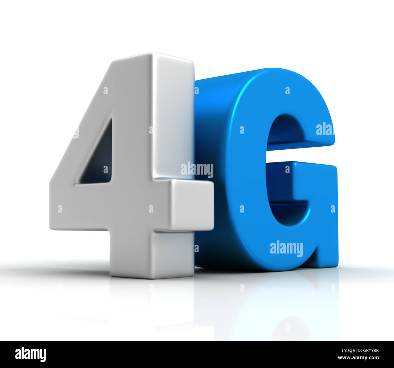 4G text isolated 3d illustration - Stock Image