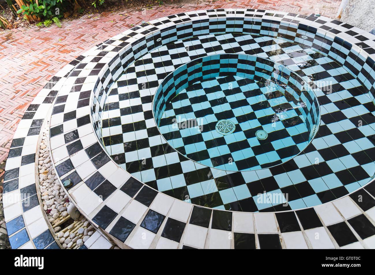 jacuzzi pool - Stock Image