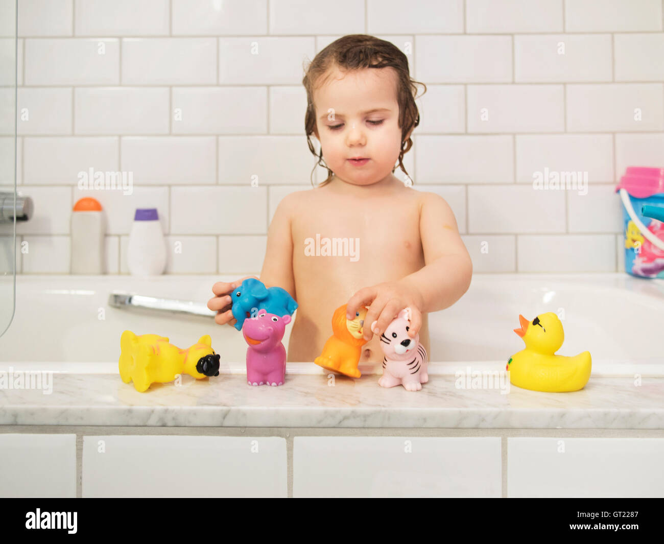 3×Rubber Ducks,Net and Swimming Ring-Bath Time Fun Toys Plays Yellow Toy Play uk
