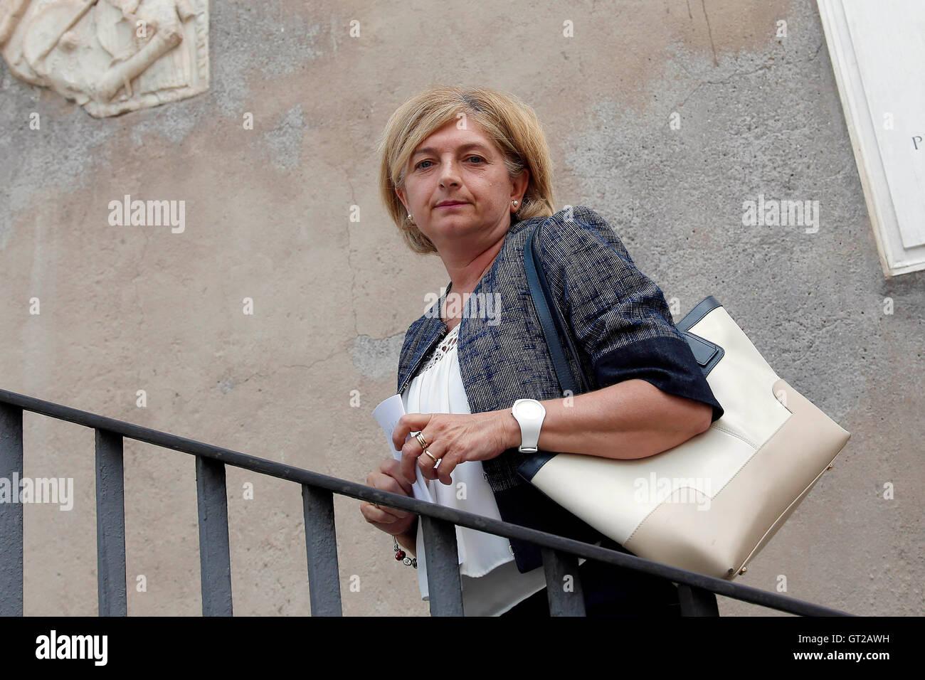 Paola Muraro Rome 8th September 2016 Movement 5 Stars party. Photo Samantha Zucchi Insidefoto - Stock Image