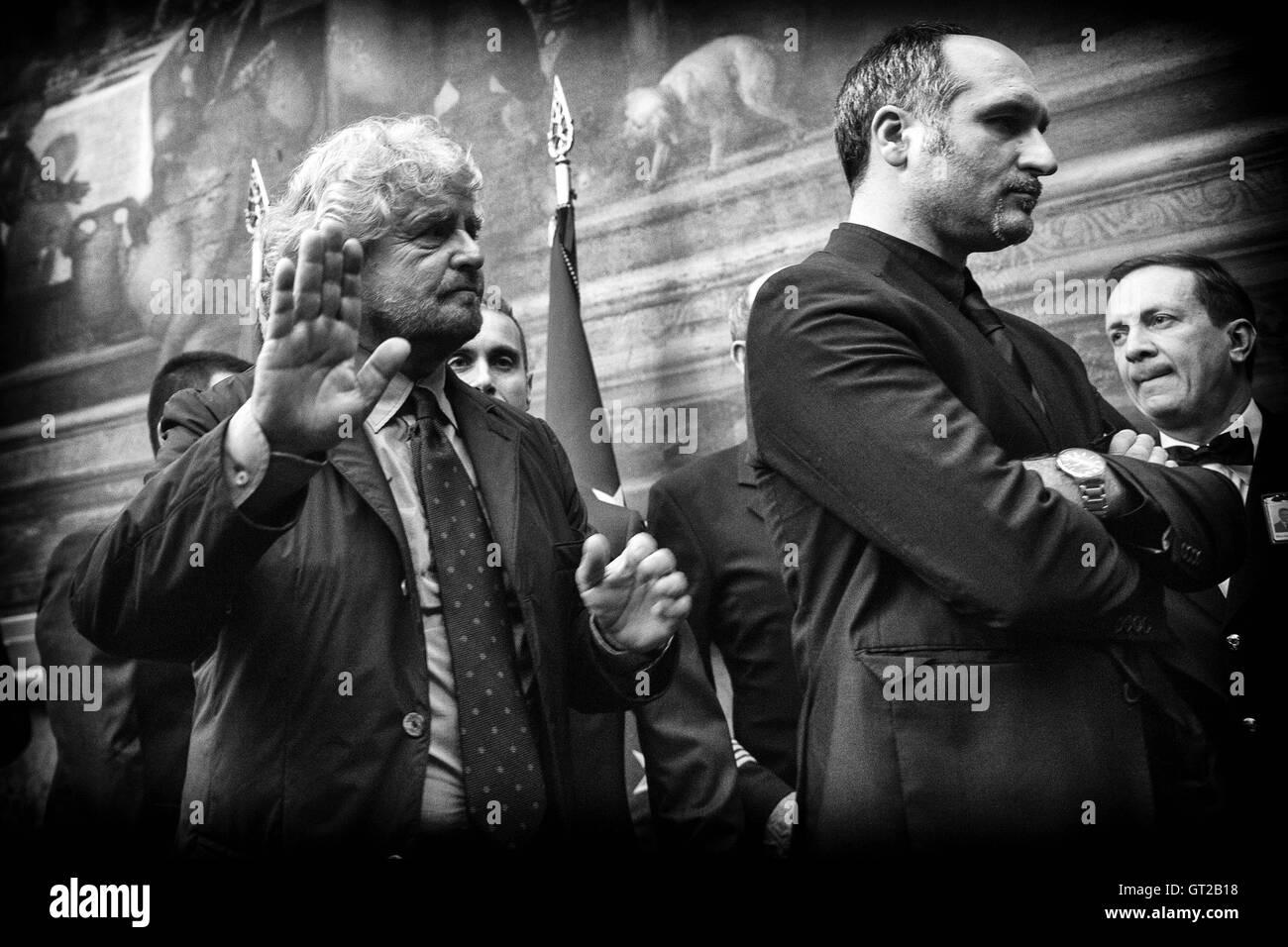 Beppe Grillo Rome 8th September 2016 Movement 5 Stars party. Photo Samantha Zucchi Insidefoto - Stock Image