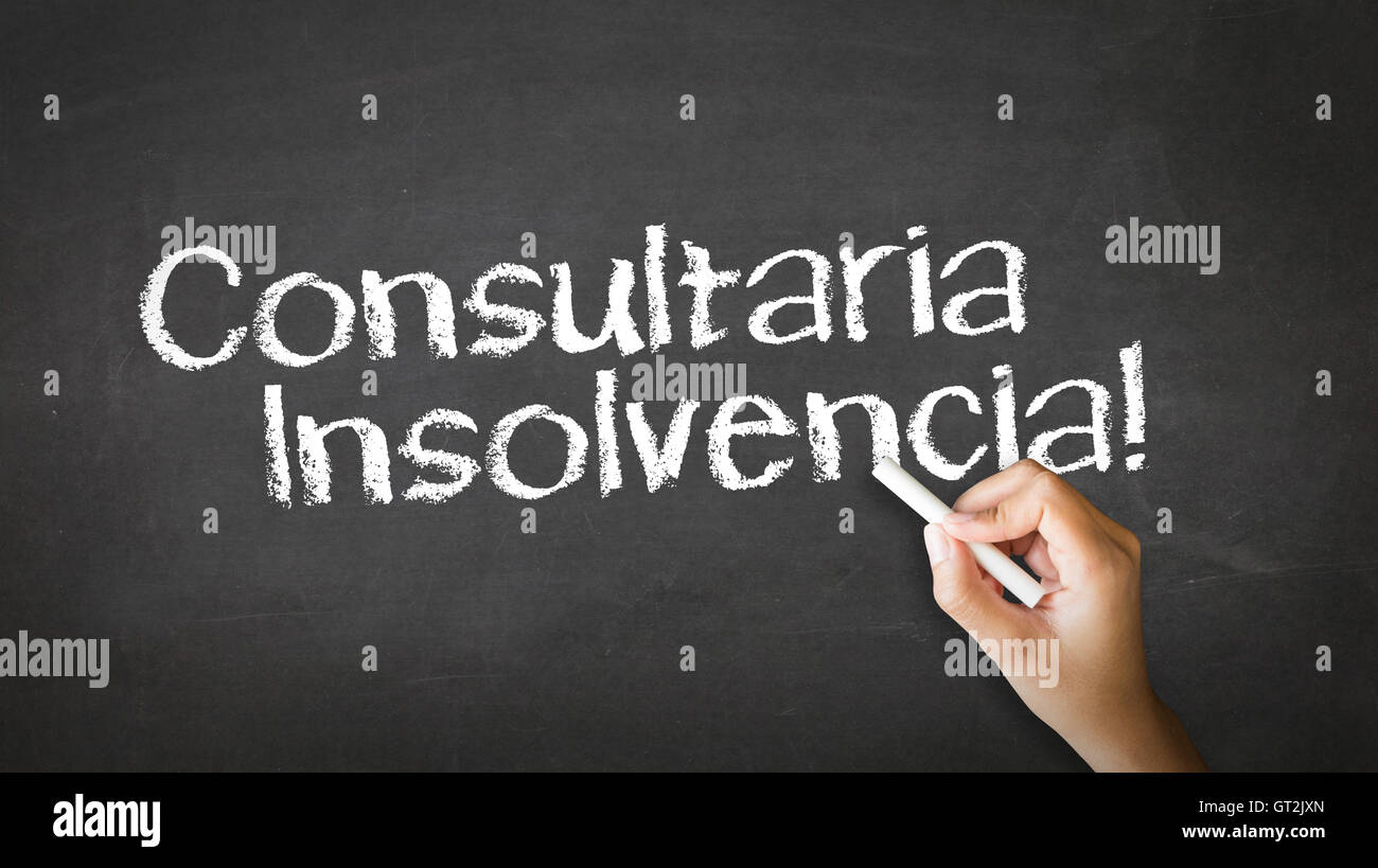 Bankruptcy Consulting (In Spanish) - Stock Image