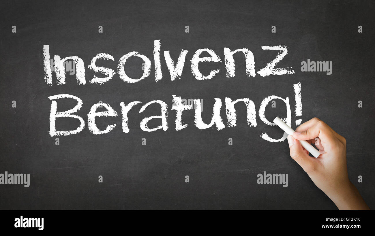 Bankruptcy Consulting (In German) - Stock Image