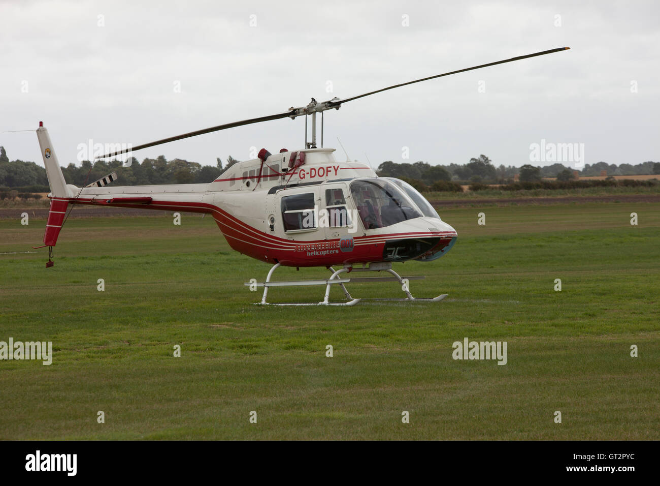 Red And White Helicopter Stock Photos & Red And White Helicopter