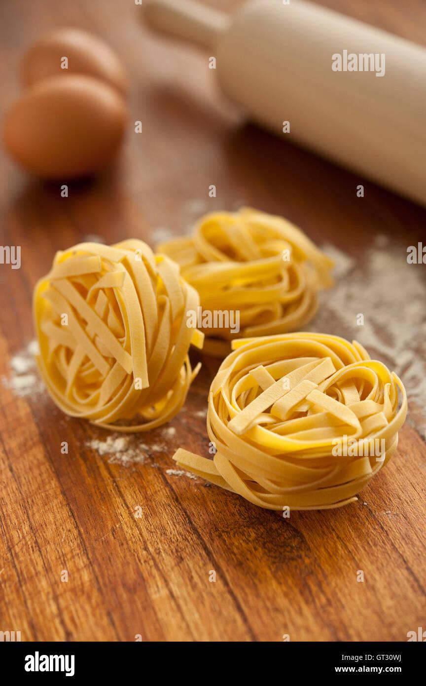 tagliatelle pasta - Stock Image