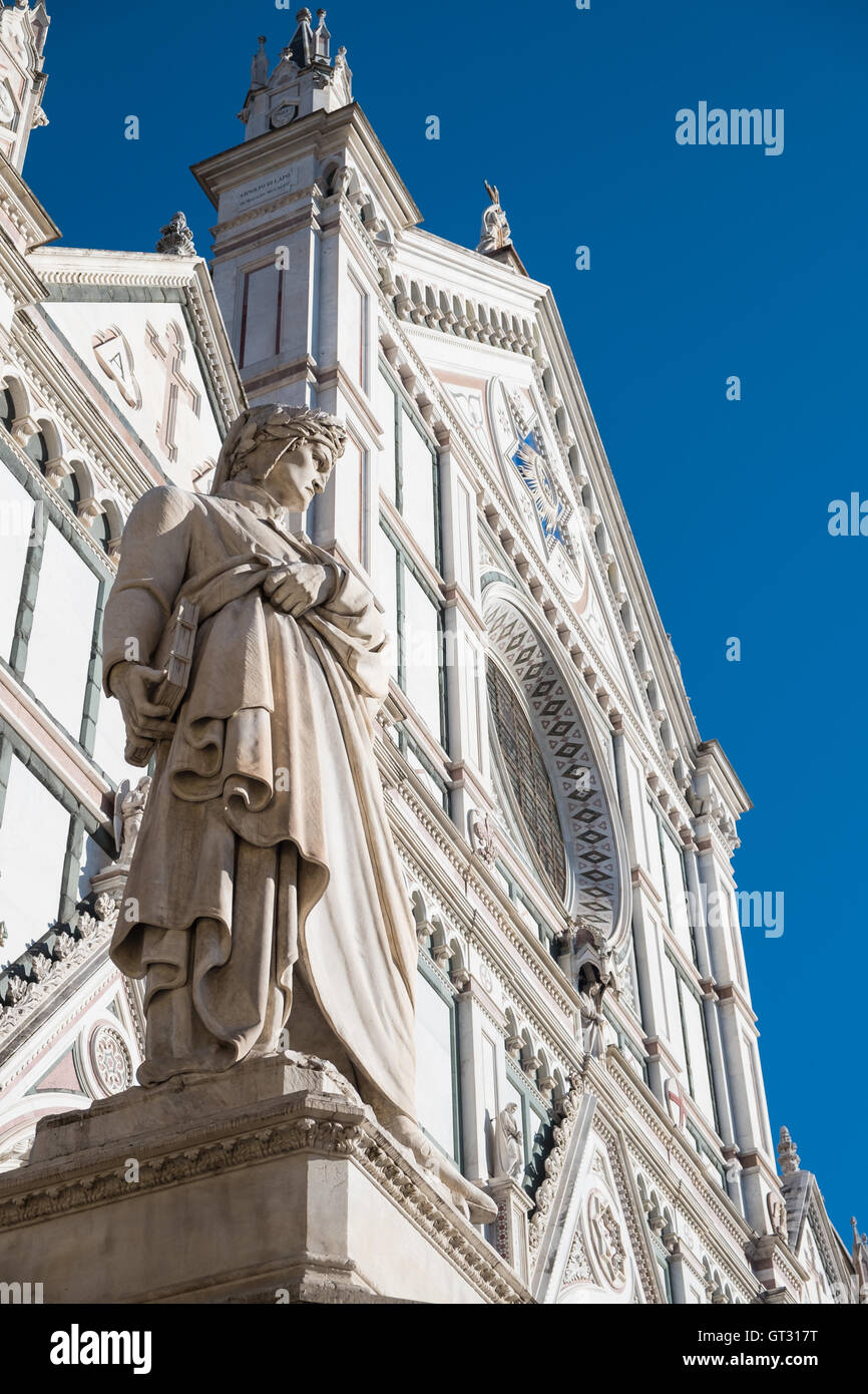 The Basilica di Santa Croce (Basilica of the Holy Cross) is the principal Franciscan church in Florence, Italy, - Stock Image