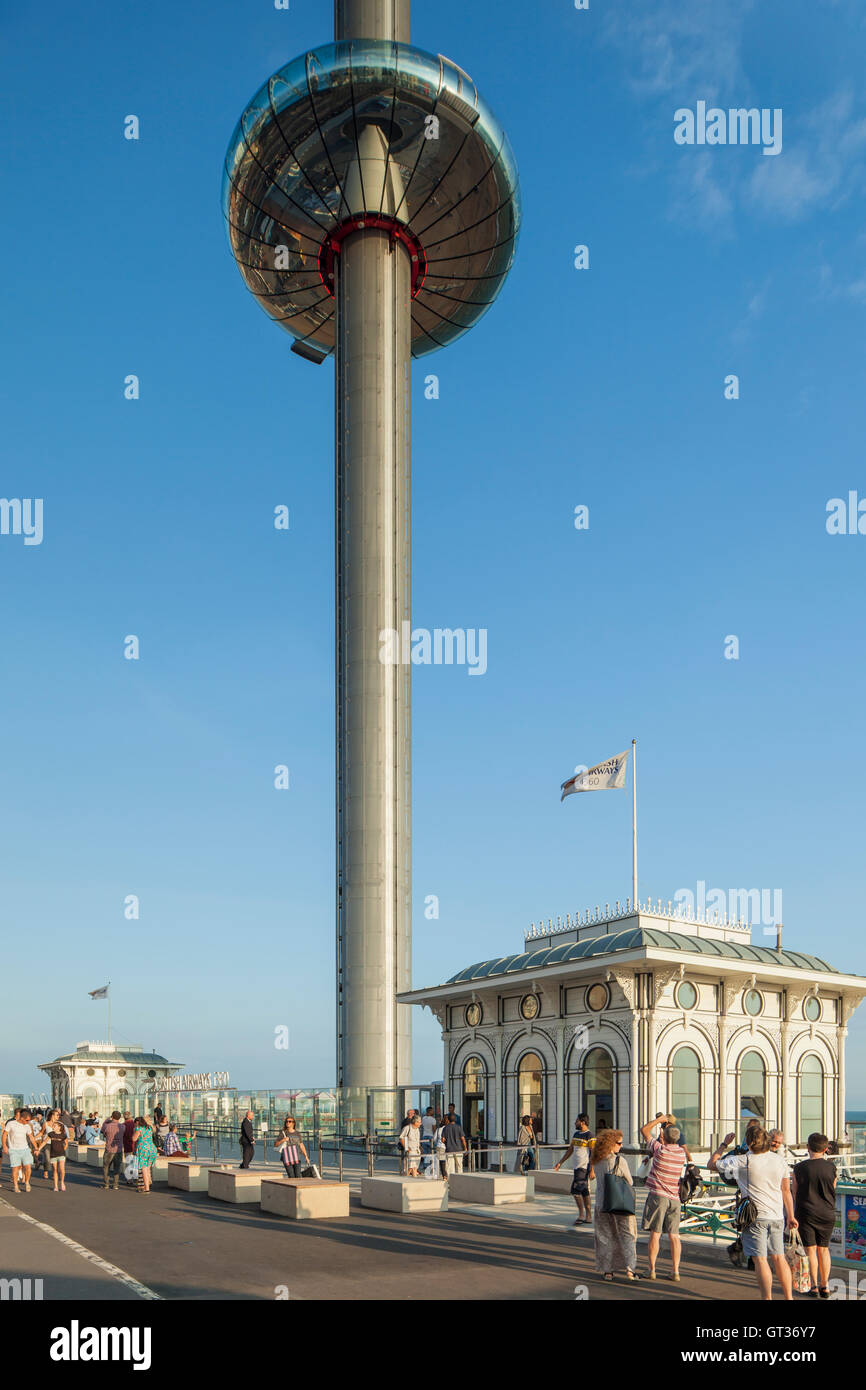 i360 viewing platform on Brighton seafront, East Sussex, England. - Stock Image