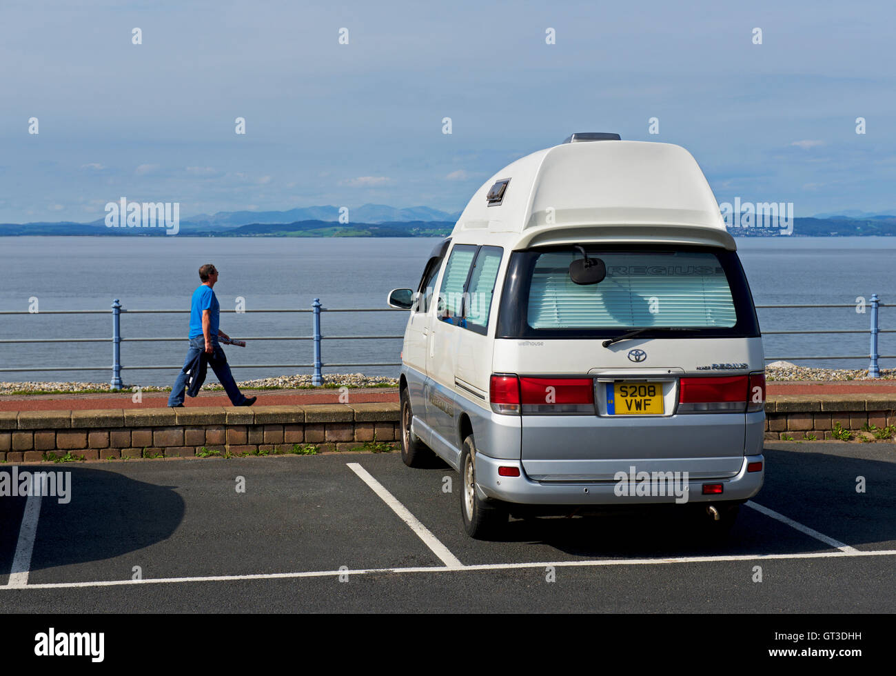 Hiace Regius campervan parked in Morecambe, Lancashire, England UK - Stock Image