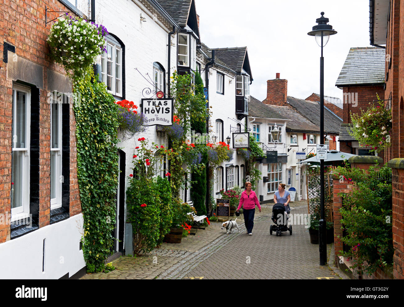 Church Lane, Stafford, Staffordshire, England UK - Stock Image