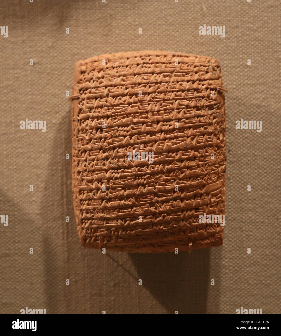 Cuneiform tablet. Clay. Old Assyrian trading colony. Middle Bronze Age. 20th-19th century B.C. - Stock Image