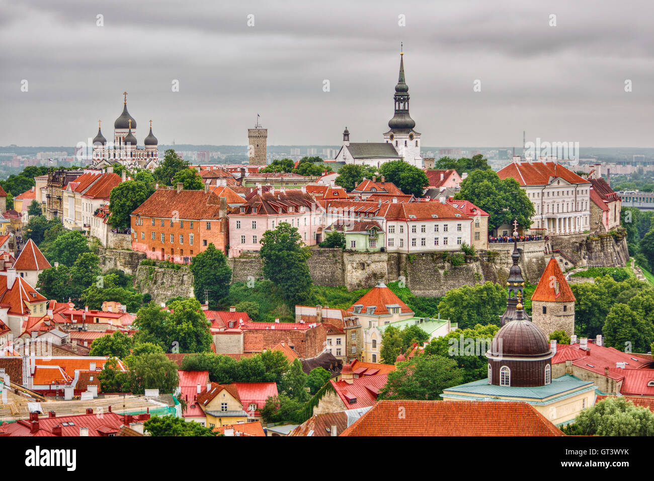 July 2016, old town of Tallinn (Estonia), HDR-technique - Stock Image