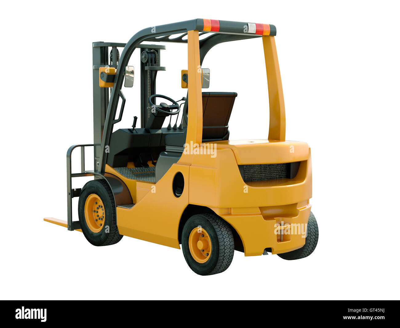Forklift truck isolated - Stock Image