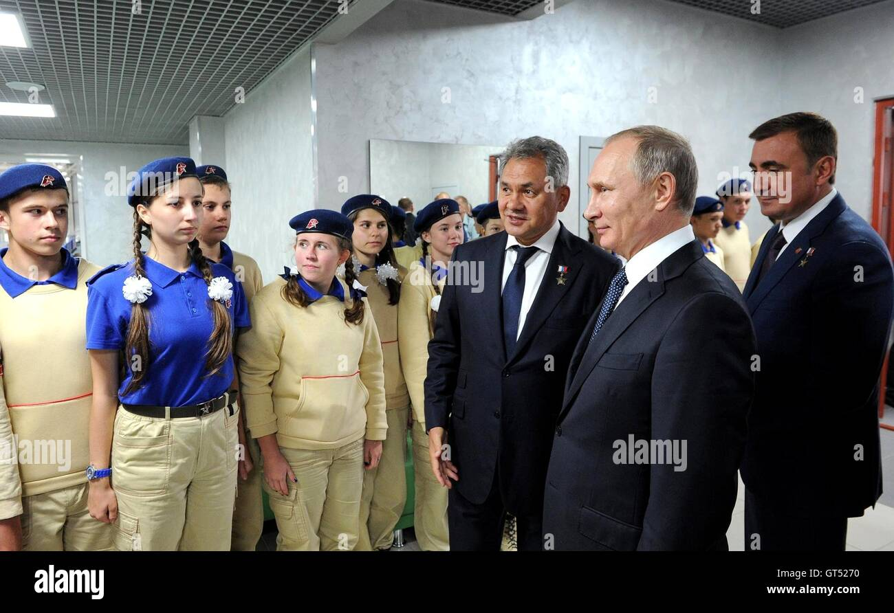 Russian President Vladimir Putin During A Visit To The Tula Cadet Stock Photo Alamy