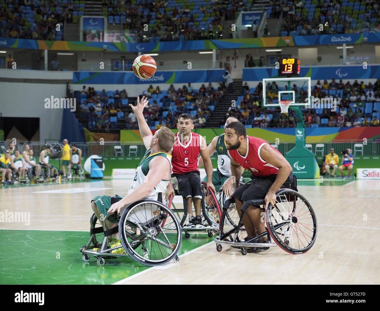 rio de janeiro brazil 9th september 2016 wheelchair basketball
