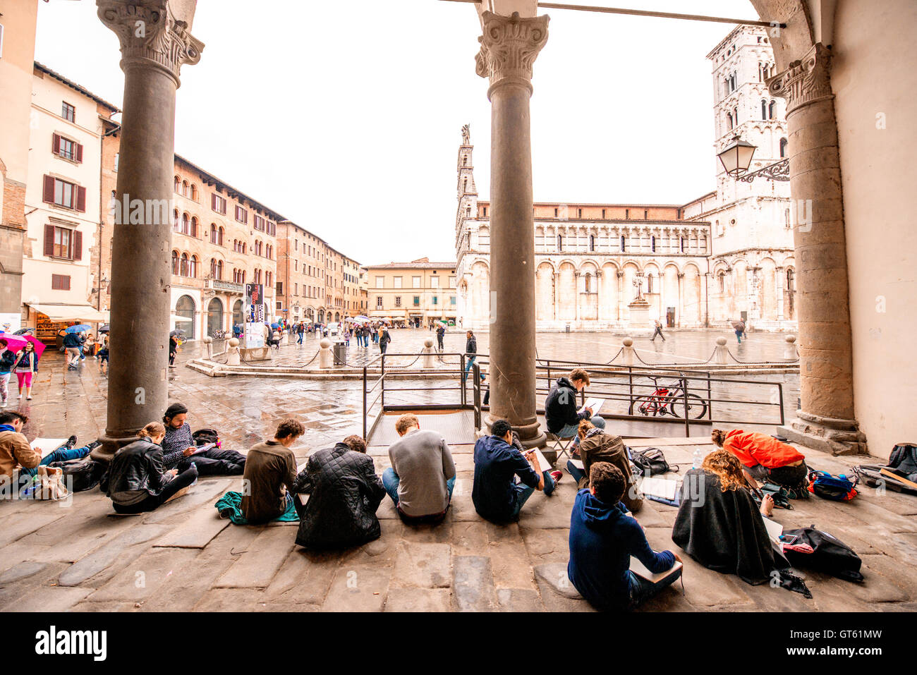 Lucca old town - Stock Image