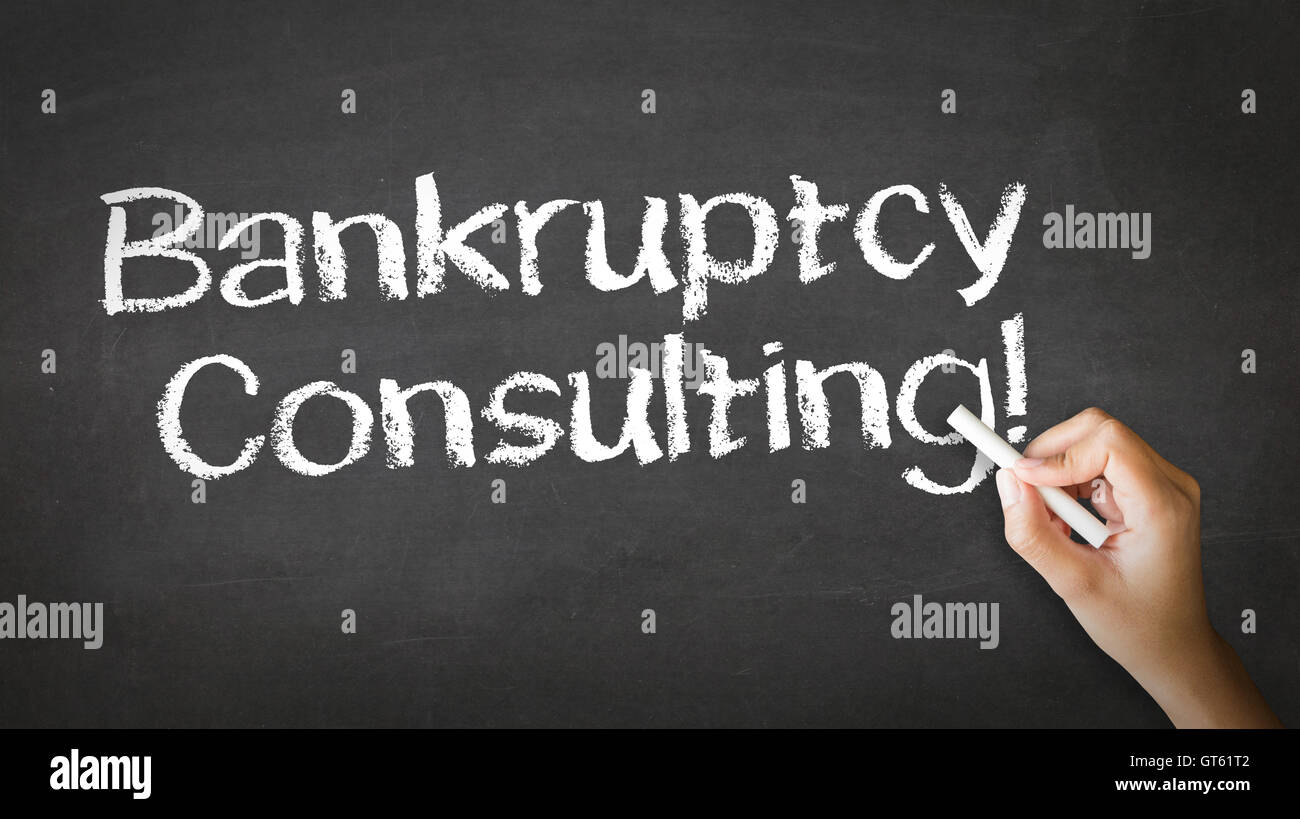 Bankruptcy Consulting Chalk Illustration - Stock Image