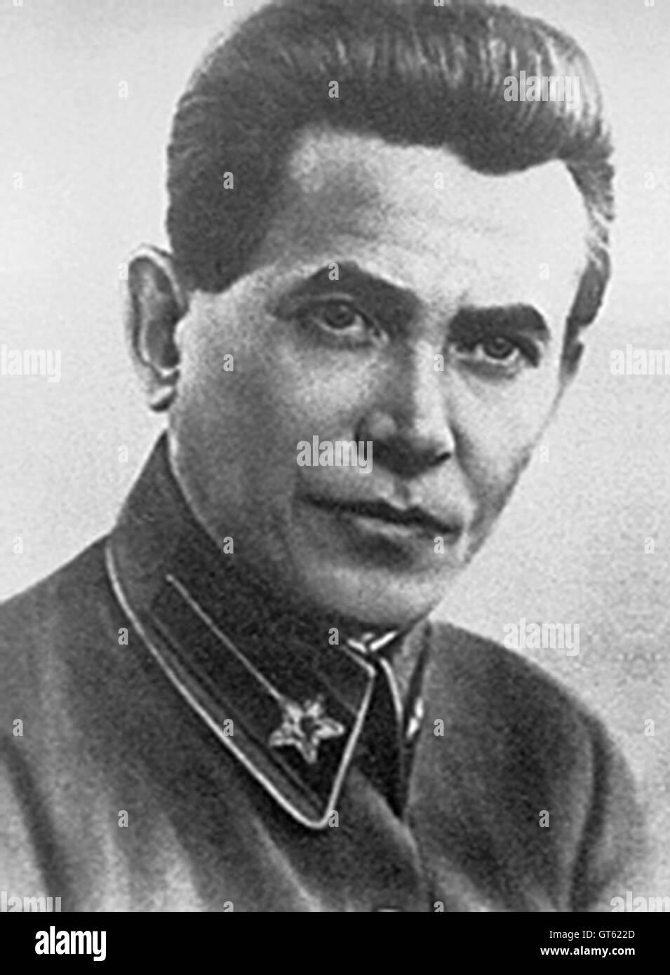 Nikolai Yezhov, Nikolai Ivanovich Yezhov, Soviet secret police official under Joseph Stalin - Stock Image