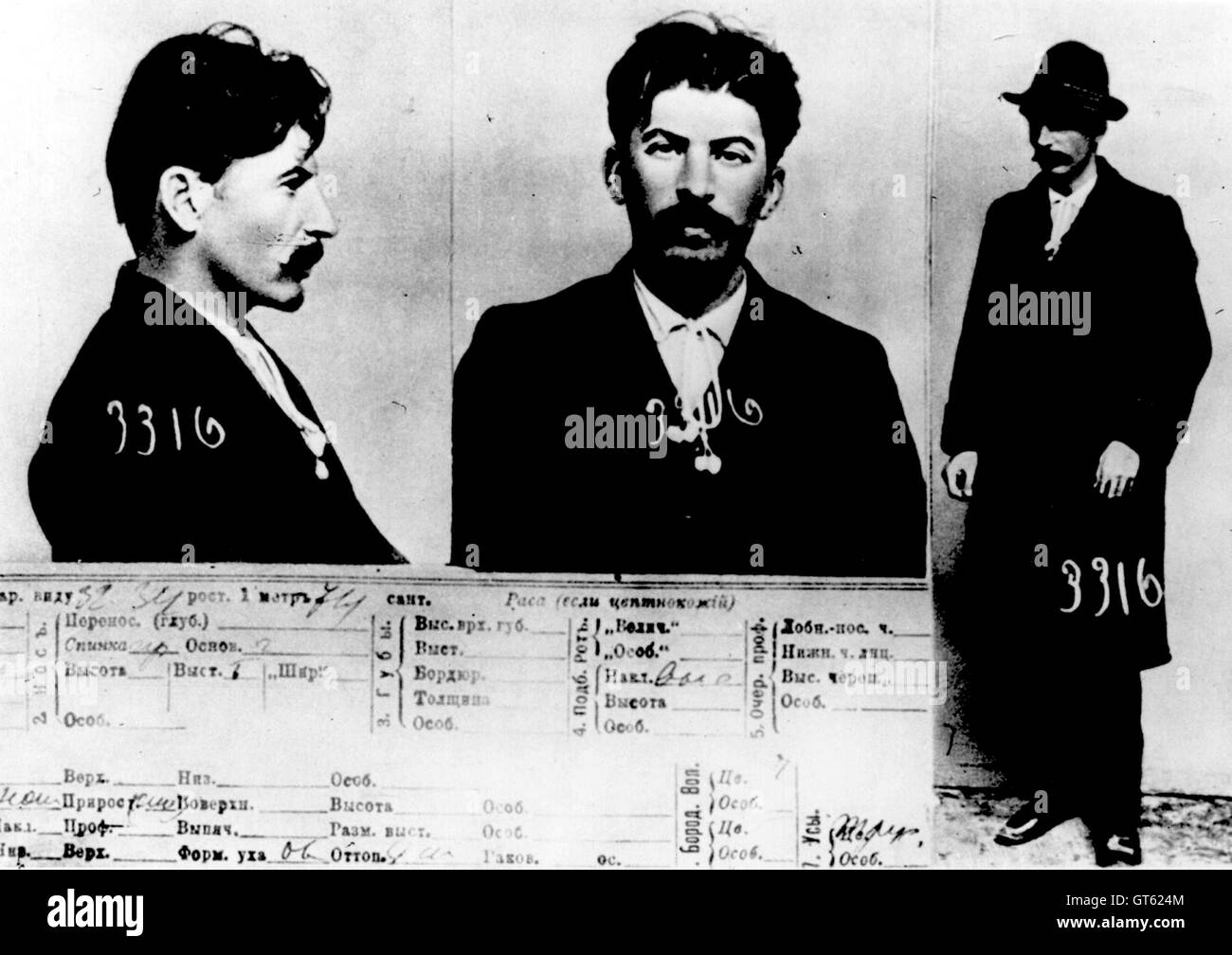 Stalin, Joseph Stalin, from files of Tsarist secret police Stock Photo