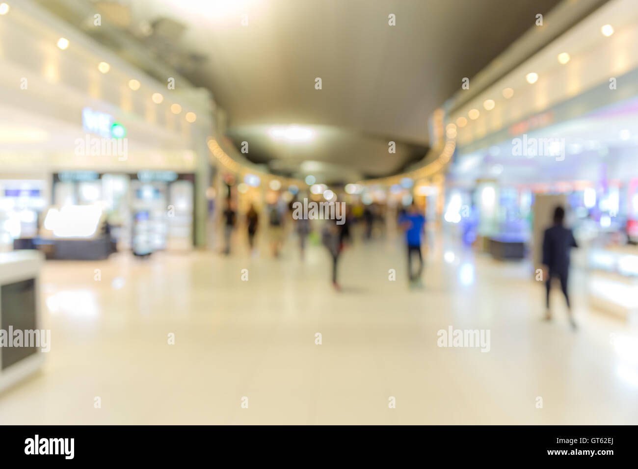 Abstrast Blurred background : airport boarding area - Stock Image