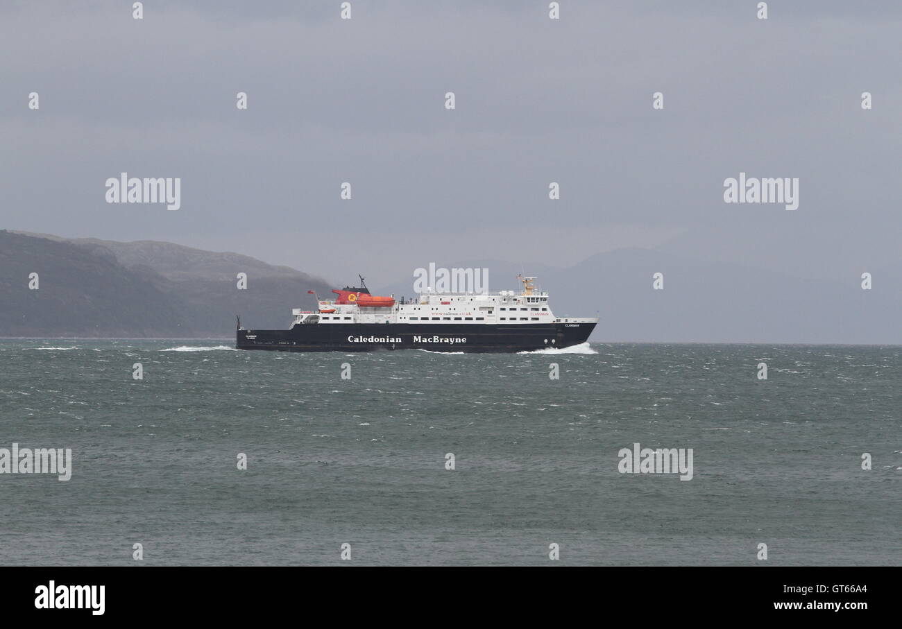 Caledonian MacBrayne ferry MV Clansman in Sound of Mull Scotland  September 2016 Stock Photo