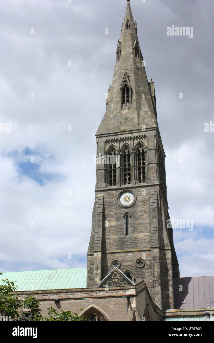 The Cathedral Church of St Martin, Leicester, England Stock Photo