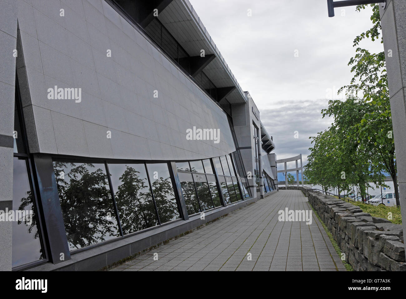 Aker football stadium Molde, Norway - Stock Image