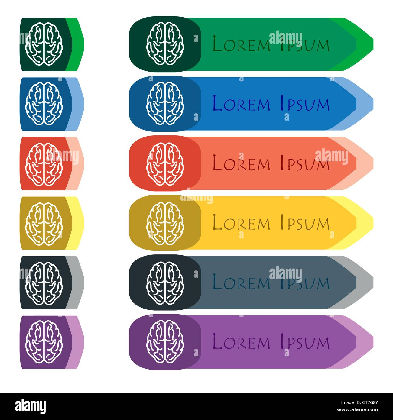 Human Brain Artwork Cut Out Stock Images & Pictures - Alamy