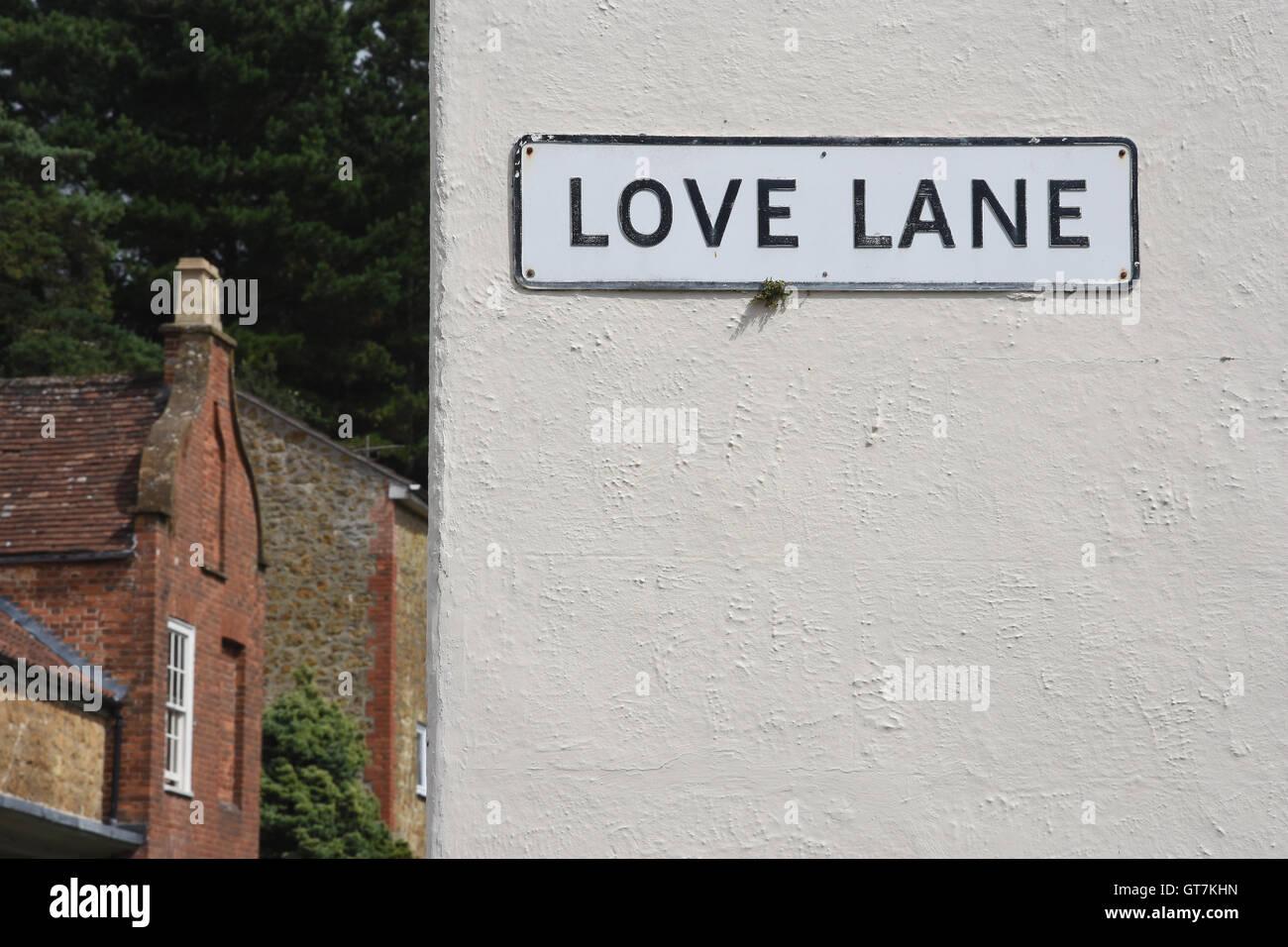 Love Lane,Street Sign,Ilminster,Somerset UK - Stock Image