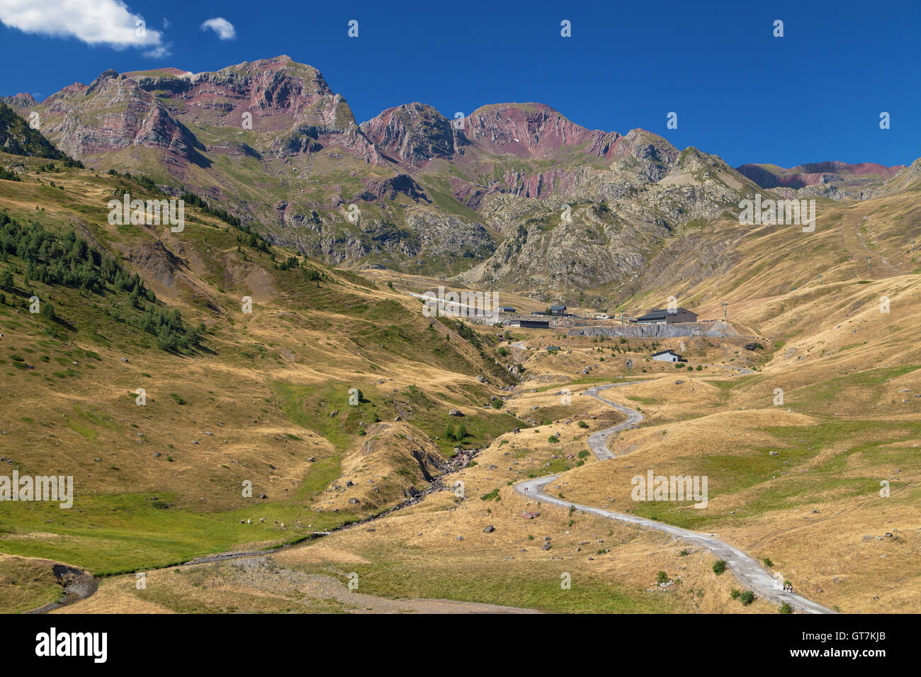 Formigal Ski Resort at summer in the Pyrenees of Huesca, Spain. - Stock Image