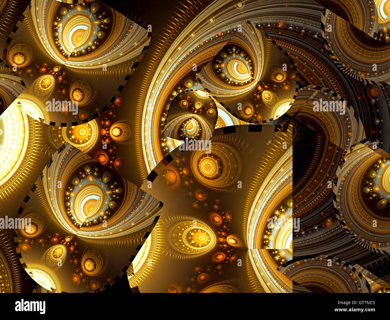 Abstract chaos psychedelic background - digitally generated imag - Stock Image