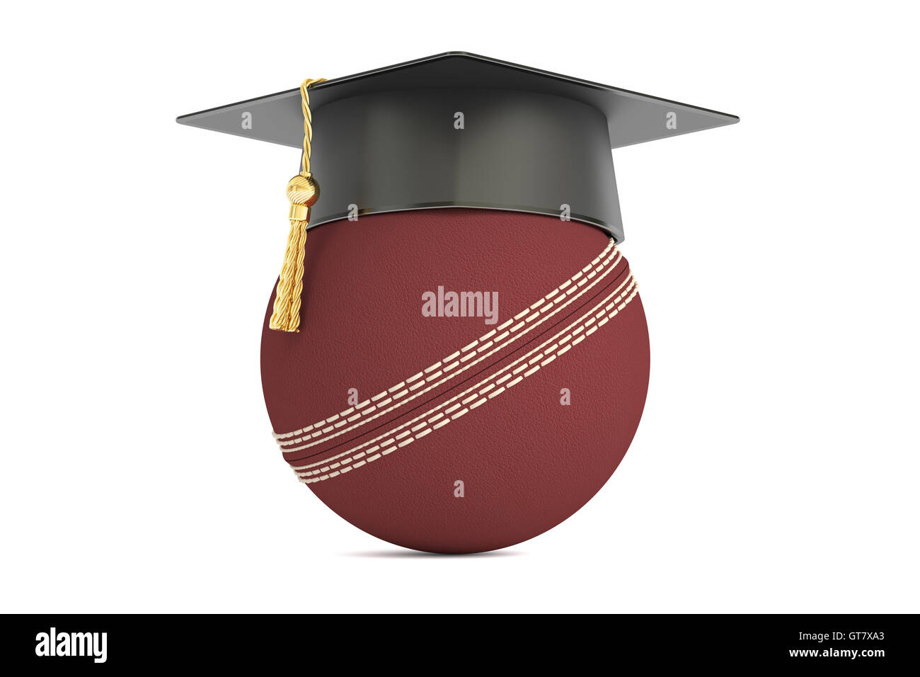 cricket sports education concept, 3D rendering isolated on white background - Stock Image