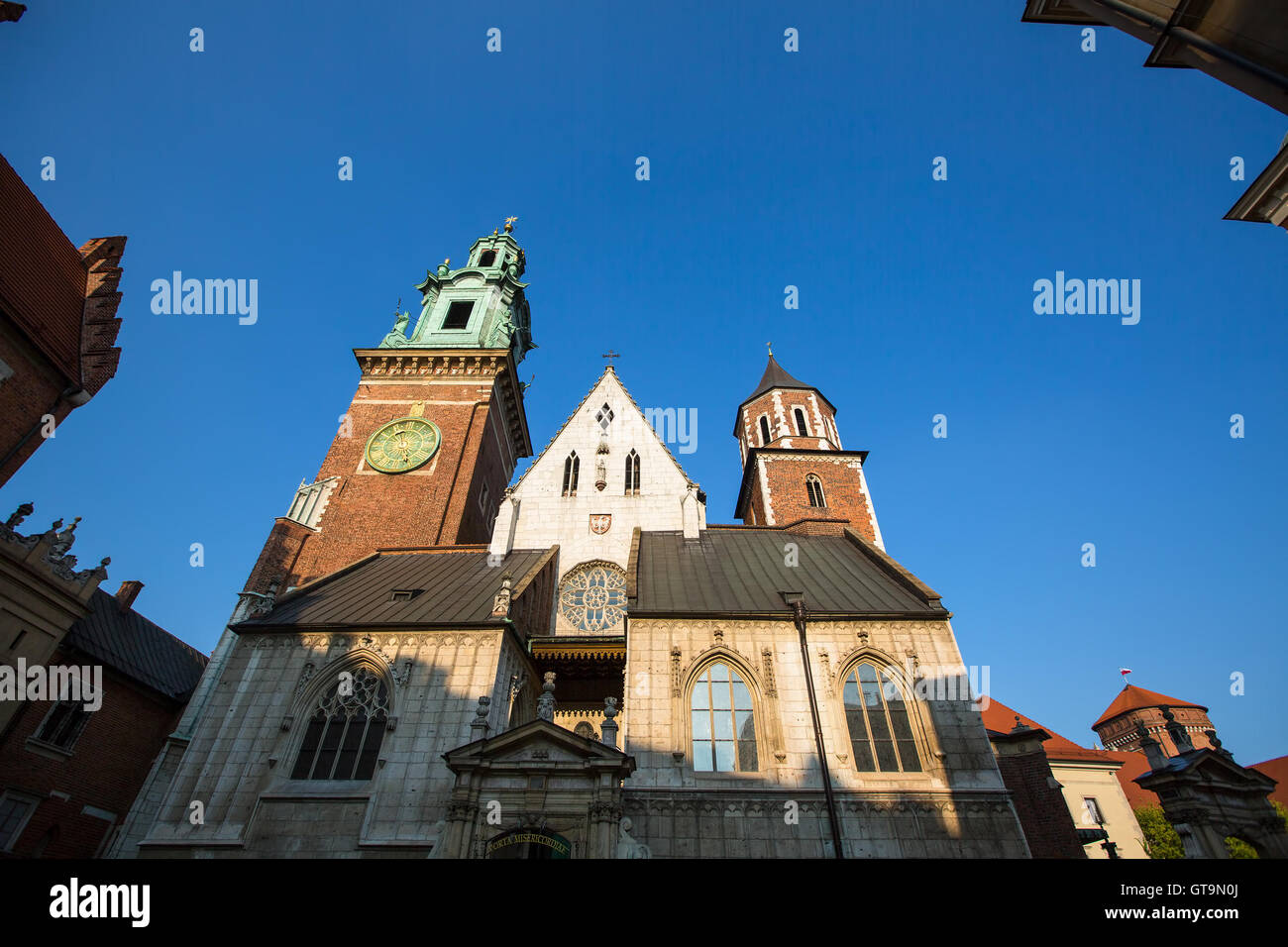 Wawel castle with cathedral in Krakow, Poland. - Stock Image