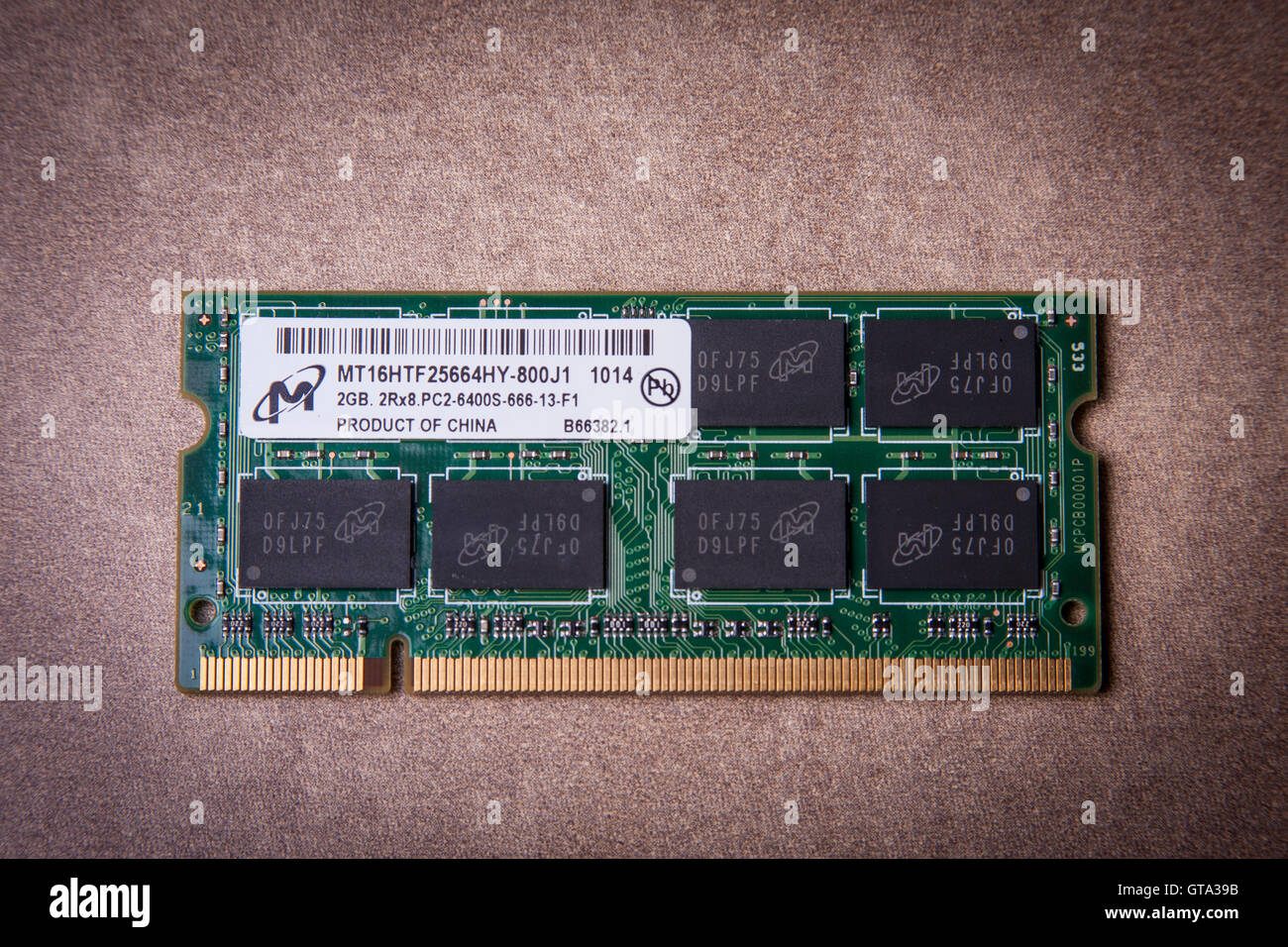 Dimm Stock Photos Images Alamy Ram Laptop Ddr2 2gb Pc2 6400 Asli Jepang Computer Memory Module Image
