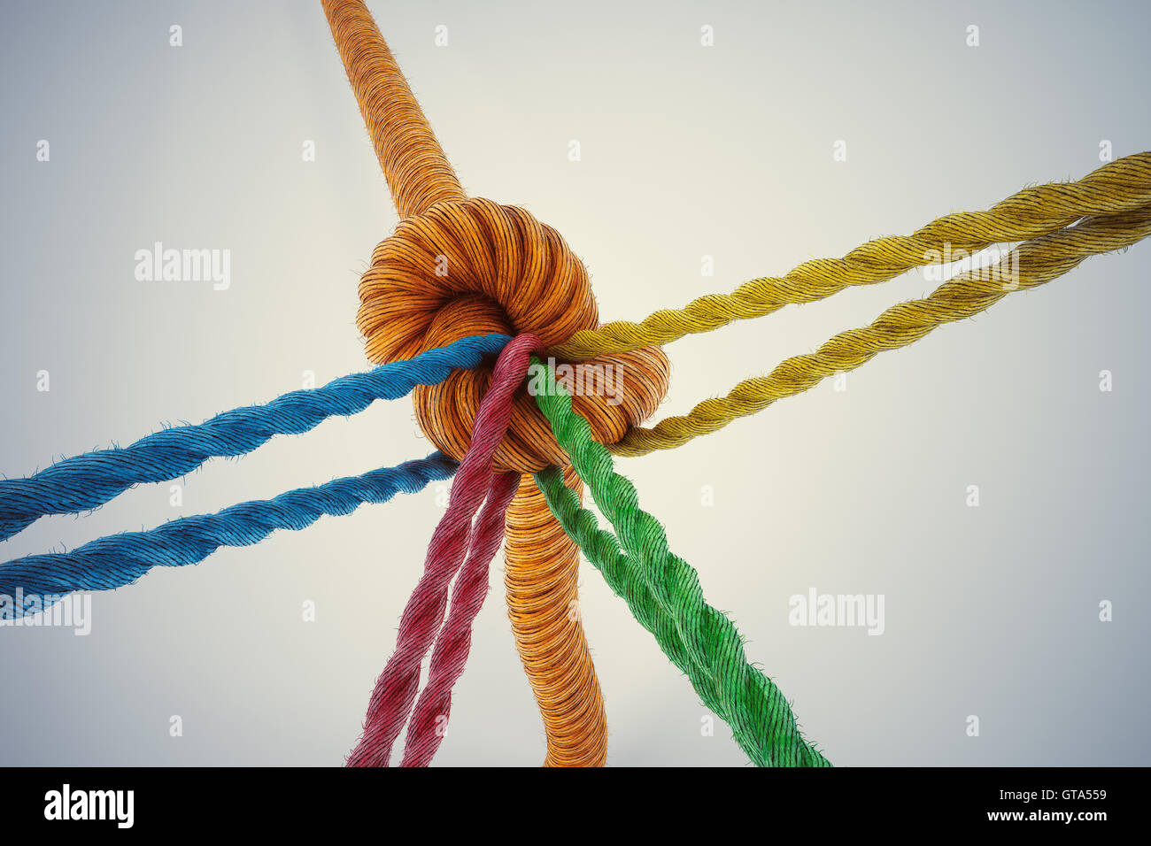 3D Rendering of cooperation business concept - Stock Image