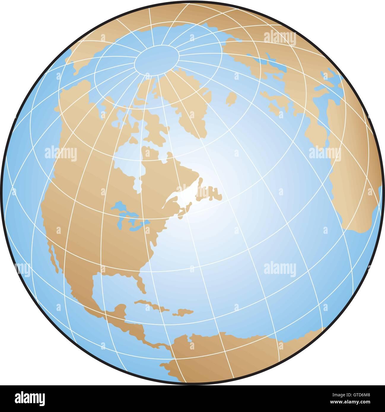 World Map Longitude Latitude Lines Stock Vector Images - Alamy