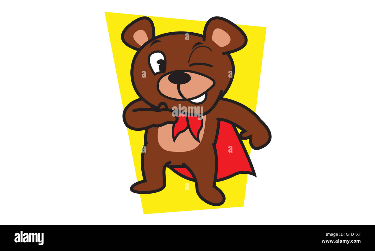 Mighty bear of vector art - Stock Image