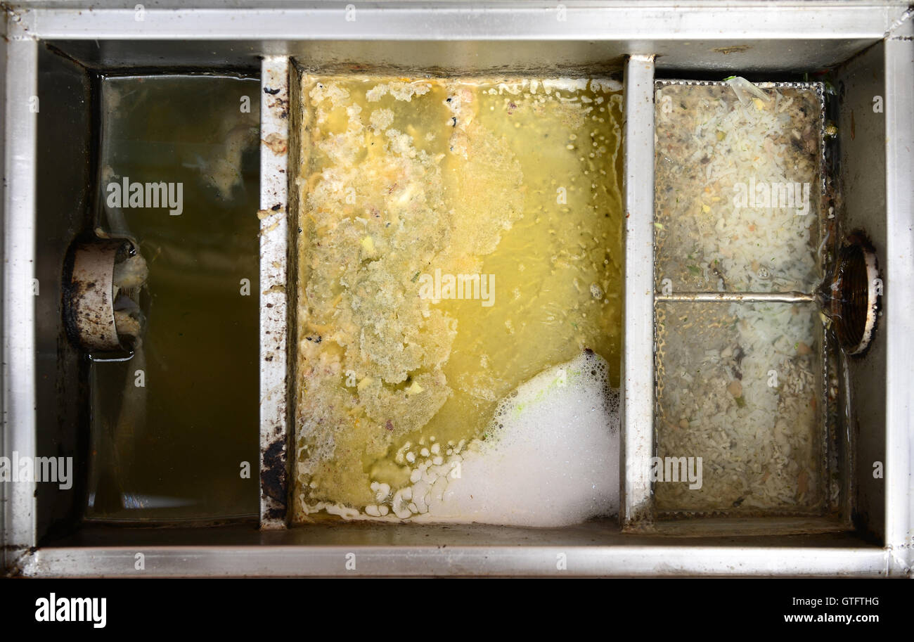 Grease traps box - Stock Image