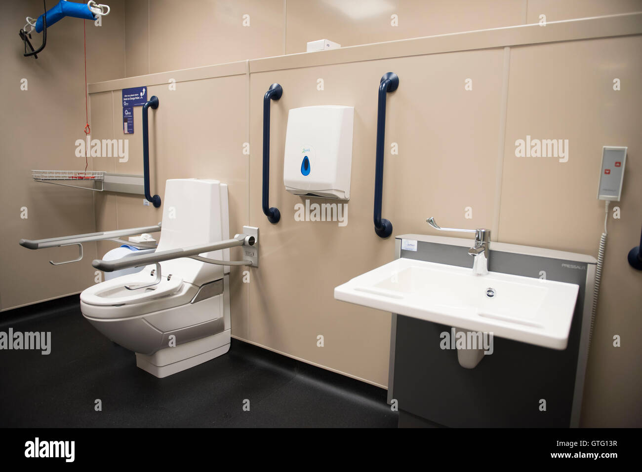 Disabled Toilet And Baby Changing Facilities In A Public