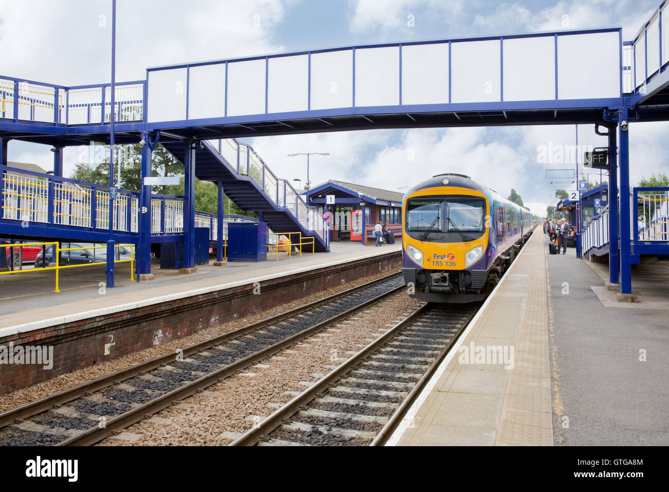Train station brough easy torkshire 125 hull trains - Stock Image