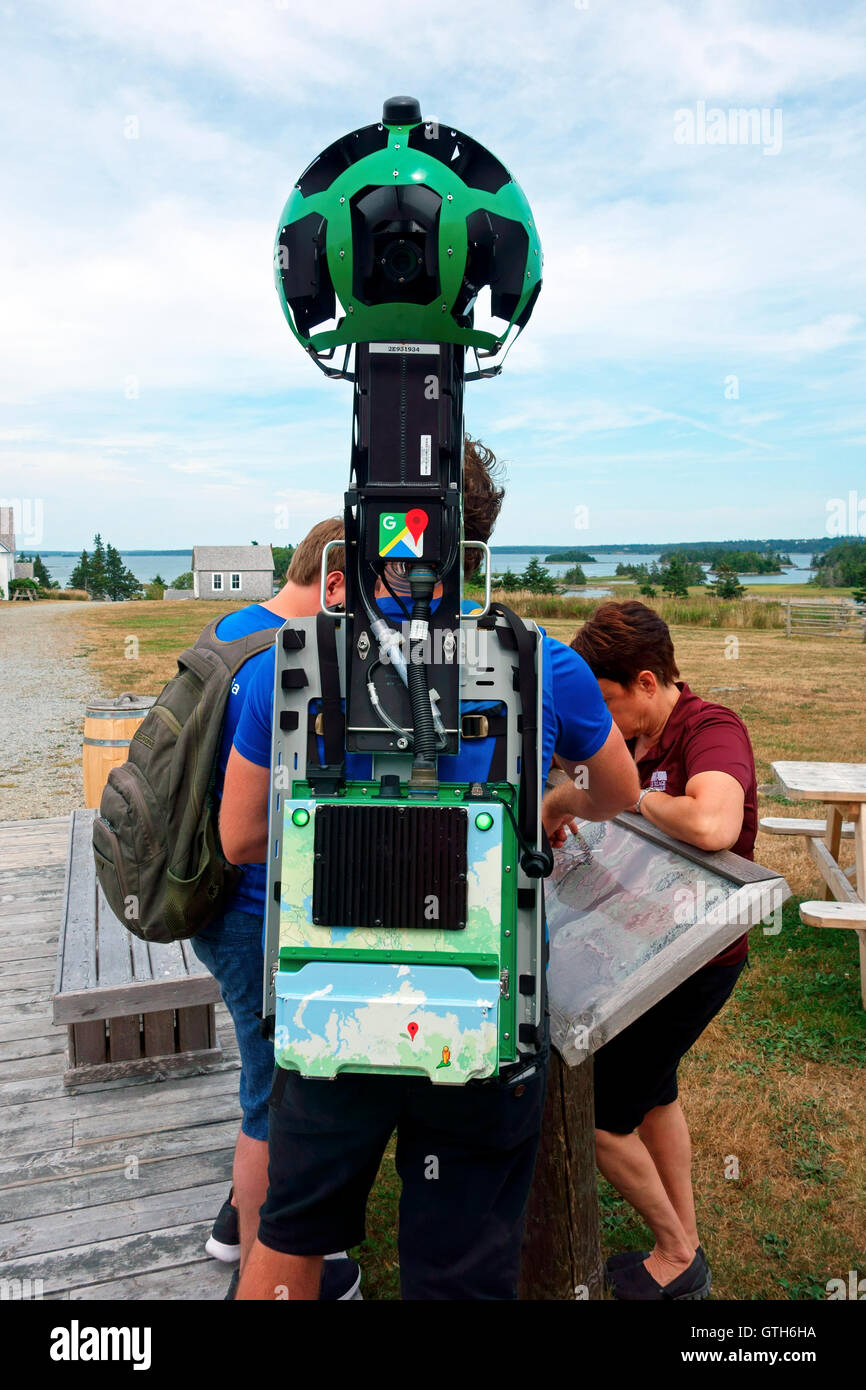 The Trekker is one of several pieces of equipment Google officially utilizes for Street View imagery for Google - Stock Image