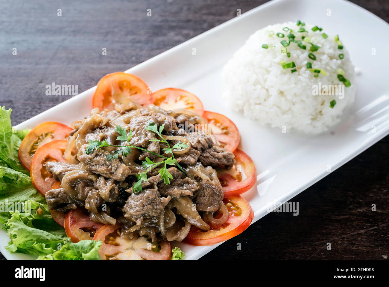 Khmer food stock photos khmer food stock images alamy cambodian fried beef lok lak traditional khmer food stock image forumfinder Images
