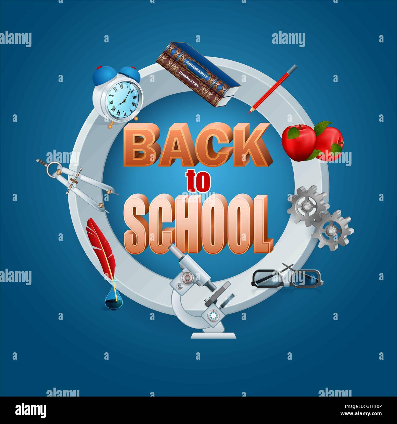 Back to school - Stock Vector